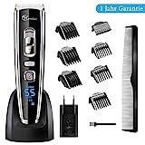 Haarschneidemaschine Profi 11 in 1 Haar und Bartschneider Set USB Haarschneider Maschine für Akku-und Netzbetrieb Männer Rasierer Haare Haartrimmer mit Keramik-/Titaniumklingen mit 7 Kammaufsätzen