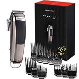 Remington Haarschneidemaschine Retro-Design (hochwertige Edelstahlklingen, 6-fache Schneidleistung, 11 Aufsteckkämme + Aufbewahrungstasche, Netz-/Akkubetrieb, Lithium) Haarschneider HC9100