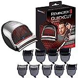 Remington Haarschneidemaschine QuickCut (Edelstahlklingen mit CurveCut-Klingen-Technologie, 9 Aufsteckkämme + Aufbewahrungstasche, Netz-/Akkubetrieb, Lithium) Haarschneider HC4250
