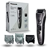 Panasonic ER-GB80 Bart-/ Haarschneider mit 39 Schnittstufen, Bartschneider für Herren, inkl. Präzisions-Trimmer, Pflege für Körper, dunkelsilber