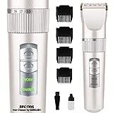 RFC-1105 Haarschneidemaschine Herren Profi Bartschneider und Haarschneider - Haartrimmer Barttrimmer mit 4 Aufsätzen - Präzisionstrimmer für Haare Bart, Haare und den Körper (weiß)