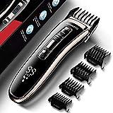 Haarschneider, JOMARTO Profi Haarschneidemaschine Haartrimmer herren Home Friseur Geschenkset, USB wiederaufladbar, LCD-Display, Unterstützung für Schnellladung