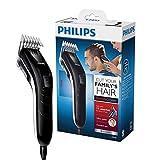 Philips QC5115/15 Haarschneider mit 11 präzisen Längeneinstellungen von 3mm bis 21mm,Haarschneidemaschine für die ganze Familie dank besonders leisem Motor,selbstschärfende Stahlklingen,kabelbetrieben