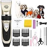 OurWarm Haarschneider- Leise Profi Tierhaarschneider Haarschneidemaschine Schermaschine Hund Katze Haustier | Schnurlosen Profi Tierhaarschneidemaschine Wiederaufladbare Haarschneider Elektrische