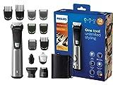 Philips14-in-1Multigroom MG7745/15, Barttrimmer, Haarschneider, Körperhaartrimmer, Ohr- und Nasenhaartrimmer, selbstschärfende Metallklingen