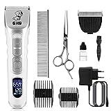 GHB Hundeschermaschine Schermaschine Katze Hunde Haarschneidemaschine mit LED-Bildschirm 9in1 Fellpflege Kit für Hund und Katze Andere Tiere (Verpackung MEHRWEG)