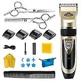Homealexa Haarschneider Set, Wiederaufladbare Herren Haarschneidemaschine, 19-teiliges Profi Elektrischer Barttrimmer Herren Haartrimmer mit LED und USB für Herren Kinder und Salon