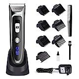 homeasy Haarschneider Maschine SET 0mm Rasierer Haare Friseur Trimmer Herren mit Aufsatzkämmer von 0,8 bis 32,8mm kabelloser Haarscherer für Erwachsene und Kinder