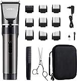 WONER Haarschneidemaschine Profi Haarschneider Herren Haartrimmer Leiser Motor mit 35 Längeneinstellungen,Langhaarschneider,16-teiliges Haarrasierer Set für Familien