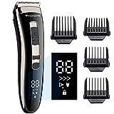 Haarschneidemaschine Profi Haarschneider Herren Elektrisch Haartrimmer, Geschenke für Männer,LED-Anzeige,3-Gang Einstellbar,Präzisionstrimmer Langhaarschneider,Wiederaufladbare Akku Easy Home Friseur