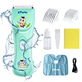 Baby Haarschneidemaschine Set Leise Elektrische Kinder Haarschneider Kit, Wasserdicht & USB Wiederaufladbar Schnurlos Kinder Haartrimmer Haarschnitt für Jungen Kleinkind