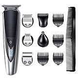 Hatteker Bartschneider Haarschneider Herren Haarschneidemaschine Haartrimmer Bartschneider Bart Trimmer Nasentrimmer Körper Goomer Wasserdichter